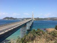 鷹ら島から見る鷹島肥前大橋
