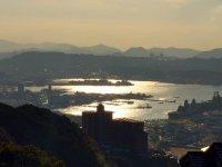 佐世保港の眺望