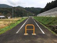 鉄道跡の遊歩道