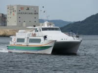 高速船で海を渡ります